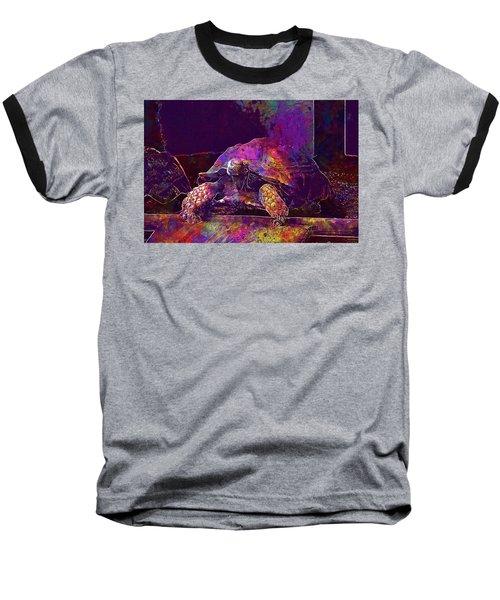 Baseball T-Shirt featuring the digital art Animal Turtle Zoo  by PixBreak Art