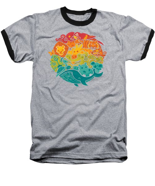 Animals Of The World Baseball T-Shirt by Craig Carr