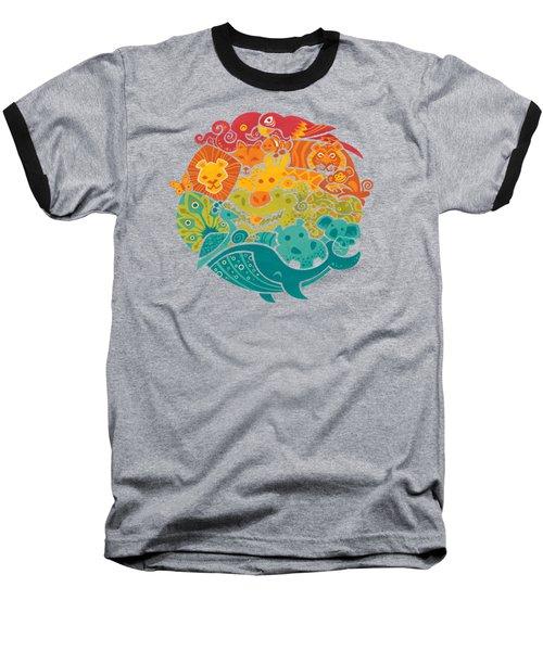 Animals Of The World Baseball T-Shirt