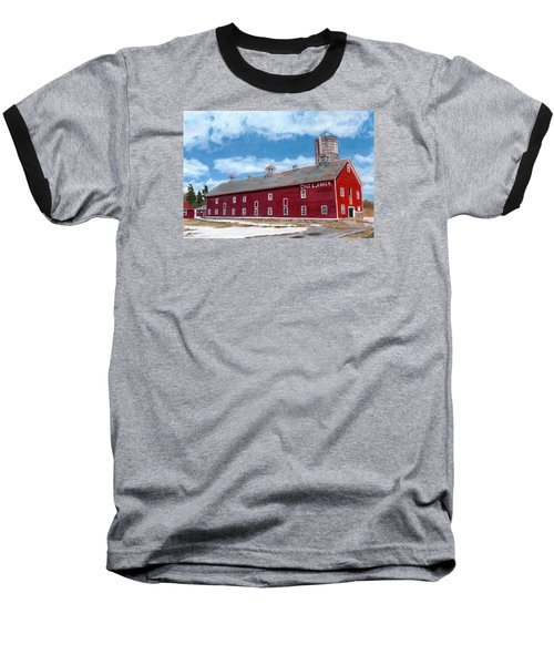 Baseball T-Shirt featuring the painting Anken's Barn by Lynne Reichhart