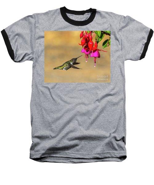 Anna And Hardy Fuchsia Flower Baseball T-Shirt