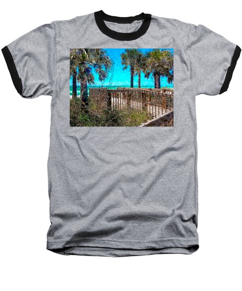 Anna Maria Boardwalk Access Baseball T-Shirt