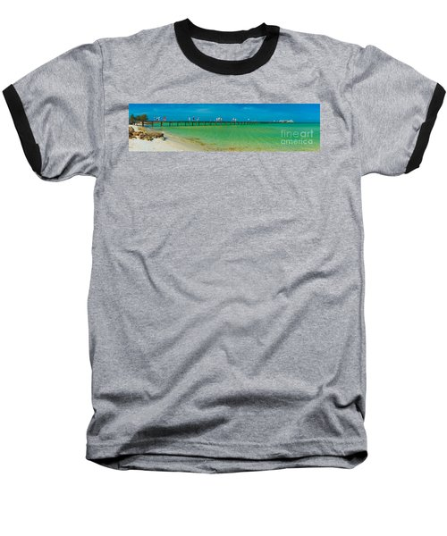 Anna Maria Island Historic City Pier Panorama Baseball T-Shirt