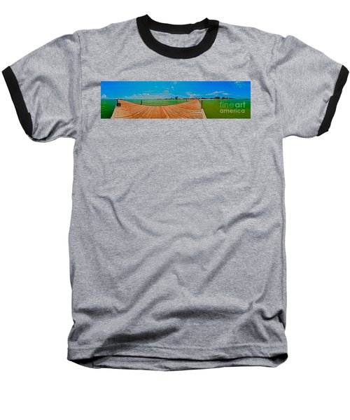Anna Maria Island Seen From The Historic City Pier Panorama Baseball T-Shirt