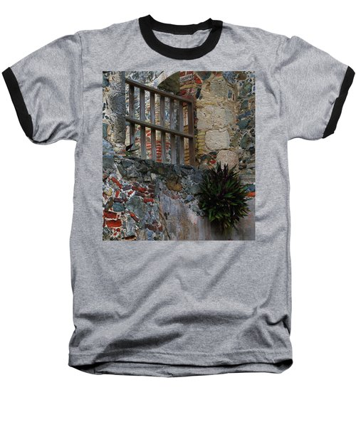 Annaberg Ruin Brickwork At U.s. Virgin Islands National Park Baseball T-Shirt by Jetson Nguyen