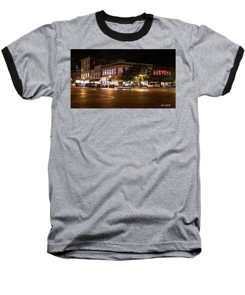 Annapolis At Night Baseball T-Shirt