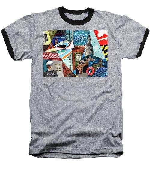 Annapolis Dock Dine Assemble Baseball T-Shirt
