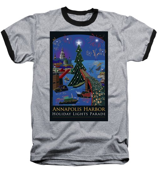 Annapolis Holiday Lights Parade Baseball T-Shirt