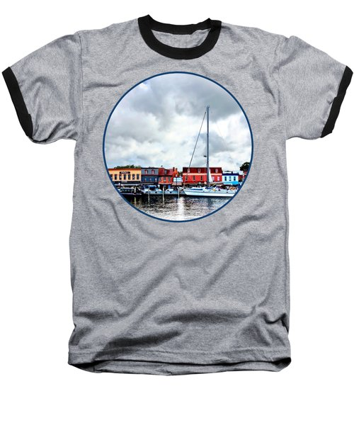 Annapolis Md - City Dock Baseball T-Shirt