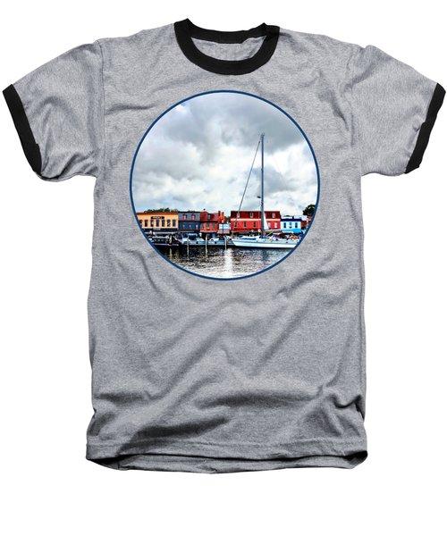 Annapolis Md - City Dock Baseball T-Shirt