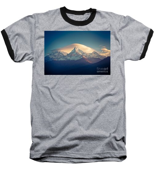 Annapurna Sunrise Himalayas Mountain Artmif Baseball T-Shirt