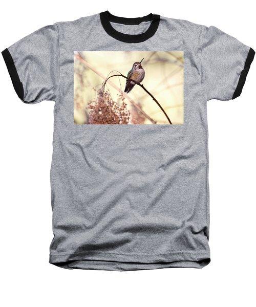 Anna's Hummingbird Closeup Baseball T-Shirt by Peggy Collins
