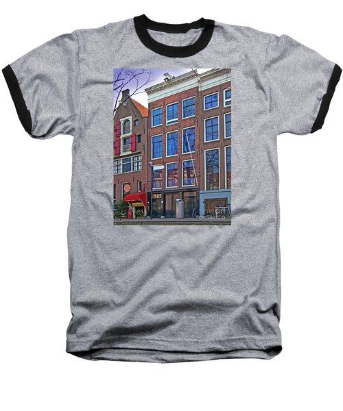 Anne Frank Home In Amsterdam Baseball T-Shirt by Al Bourassa
