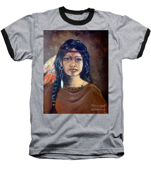 Anne Wolfe Baseball T-Shirt by Lee Piper