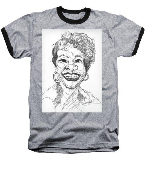 Annette Caricature Baseball T-Shirt