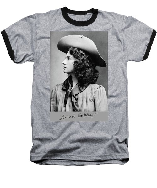 Annie Oakley Profile Baseball T-Shirt