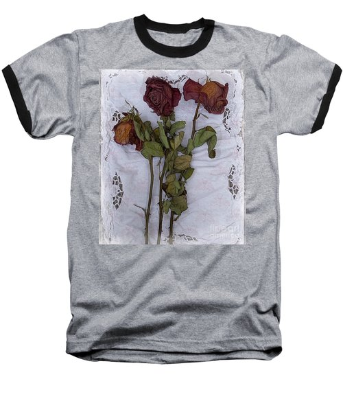 Baseball T-Shirt featuring the digital art Anniversary Roses by Alexis Rotella