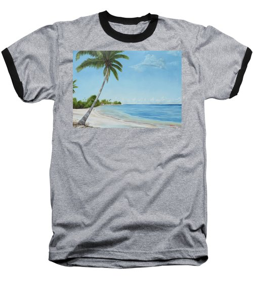 Another Day In Paradise Baseball T-Shirt by Lloyd Dobson
