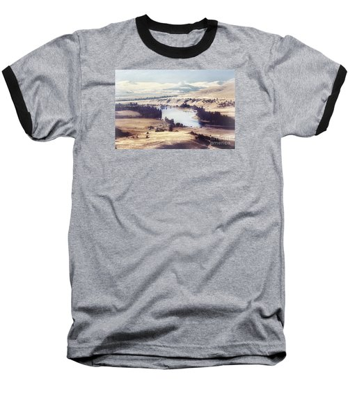 Another Flathead River Image Baseball T-Shirt by Janie Johnson