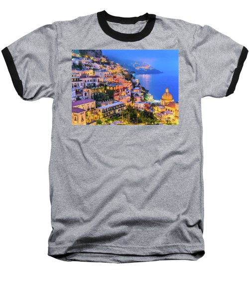 Another Glowing Evening In Positano Baseball T-Shirt
