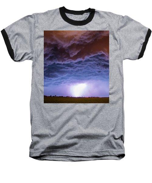Another Impressive Nebraska Night Thunderstorm 007 Baseball T-Shirt