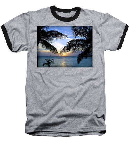 Another Key West Sunset Baseball T-Shirt by Joan  Minchak