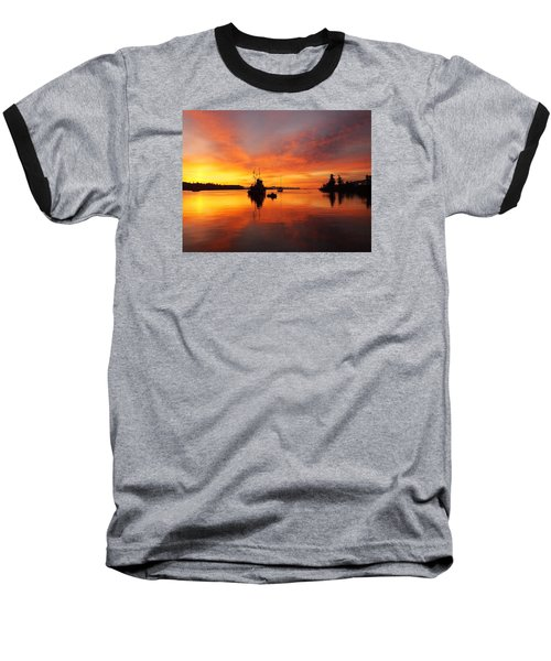 Another Morning Baseball T-Shirt by Mark Alan Perry
