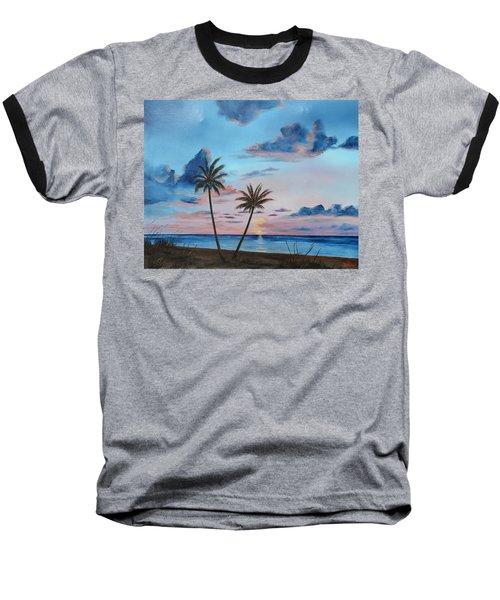Another Paradise Sunset Baseball T-Shirt by Lloyd Dobson