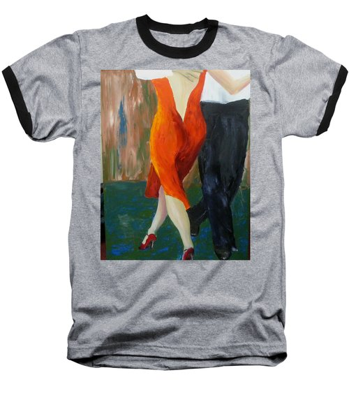 Baseball T-Shirt featuring the painting Another Tango Twirl by Keith Thue