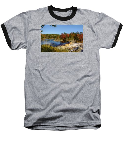 Another View Of Liscombe Falls Baseball T-Shirt by Ken Morris