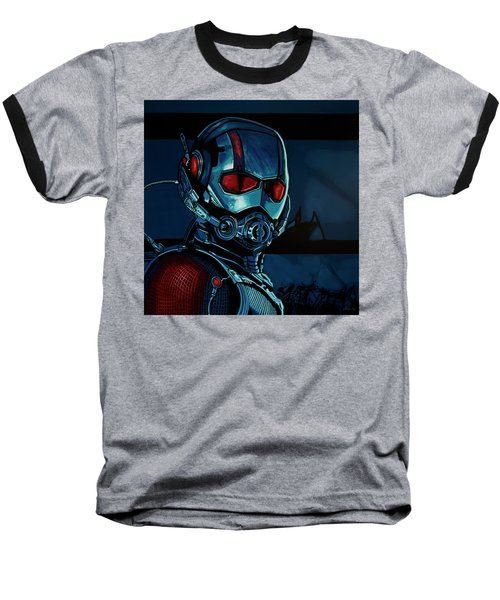 Ant Man Painting Baseball T-Shirt by Paul Meijering