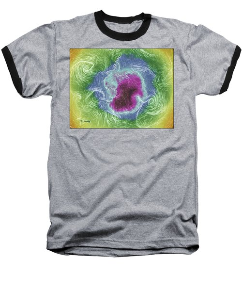 Antarctica Abstract Baseball T-Shirt by Geraldine Alexander