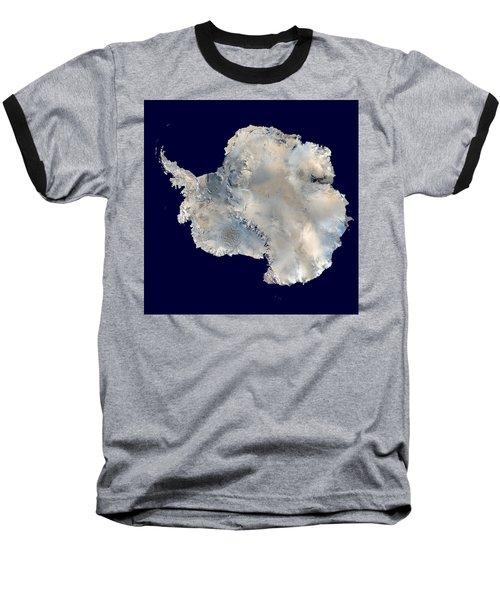 Antarctica From Blue Marble Baseball T-Shirt