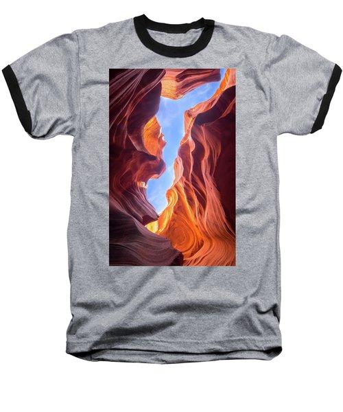 Antelope Canyon Baseball T-Shirt by Serge Skiba