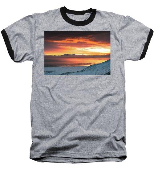 Antelope Island Sunset Baseball T-Shirt