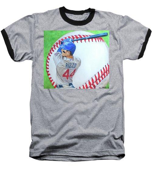 Anthony Rizzo 2016 Baseball T-Shirt by Melissa Goodrich