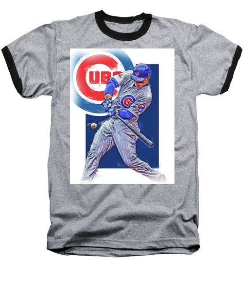 Anthony Rizzo Chicago Cubs Oil Art Baseball T-Shirt