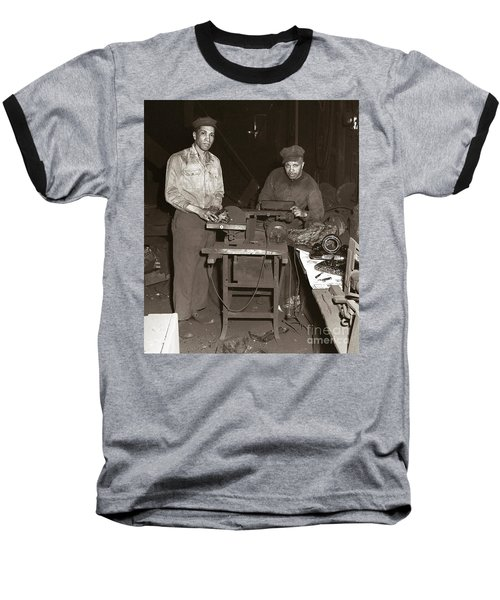 Anthracite Coal Artist  Charles Edgar Patience On Right  1906-1972 In Studio 1953    Baseball T-Shirt