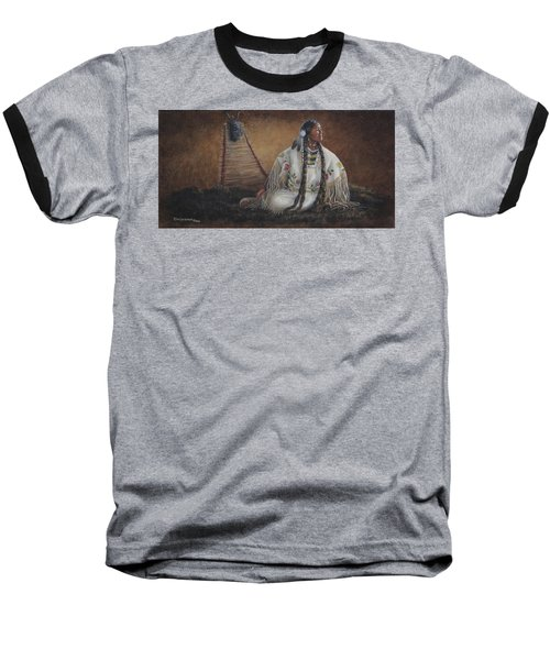 Baseball T-Shirt featuring the painting Anticipation by Kim Lockman