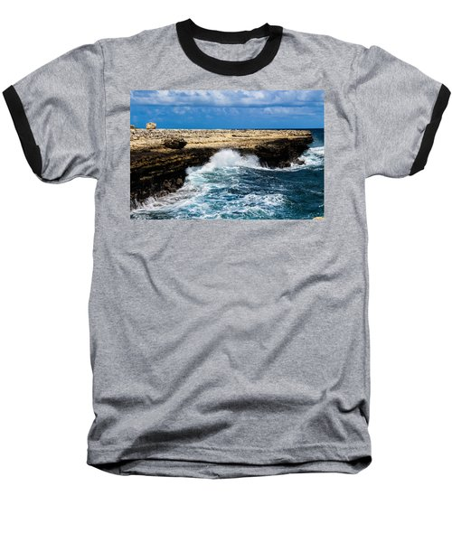 Antigua Shoreline Baseball T-Shirt