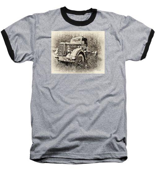 Antique 1947 Mack Truck Baseball T-Shirt by Mark Allen