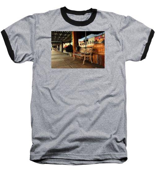 Antique Bench Baseball T-Shirt by Ester Rogers
