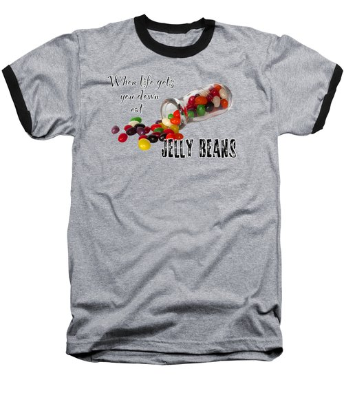 Baseball T-Shirt featuring the photograph Antique Bottle And Jelly Beans by Phyllis Denton