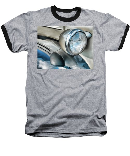 Antique Car Headlight And Reflections Baseball T-Shirt