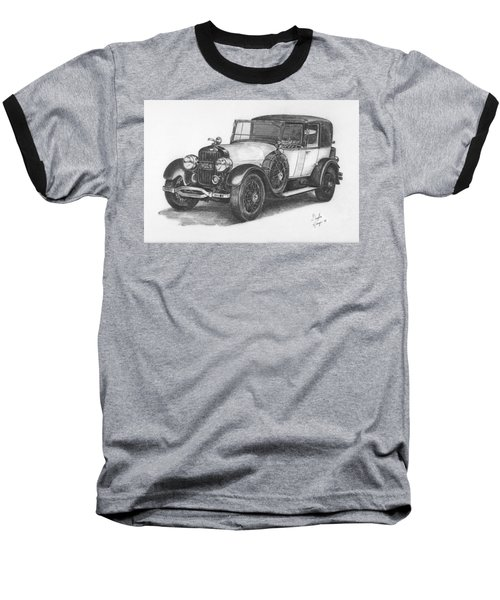 Baseball T-Shirt featuring the drawing Antique Car -pencil Study by Doug Kreuger