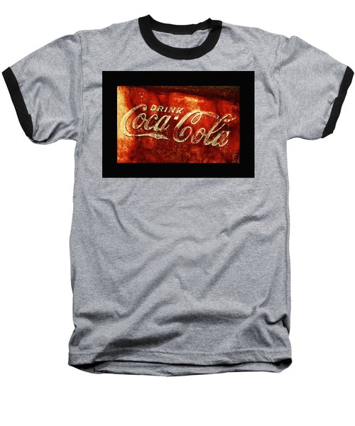 Antique Coca-cola Cooler II Baseball T-Shirt by Stephen Anderson