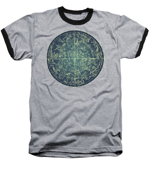 Antique Constellation Of Northern Stars 19th Century Astronomy Baseball T-Shirt