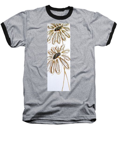 Antique Daisies Baseball T-Shirt