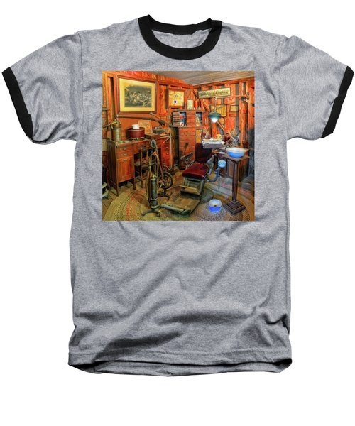Antique Dental Office Baseball T-Shirt by Dave Mills