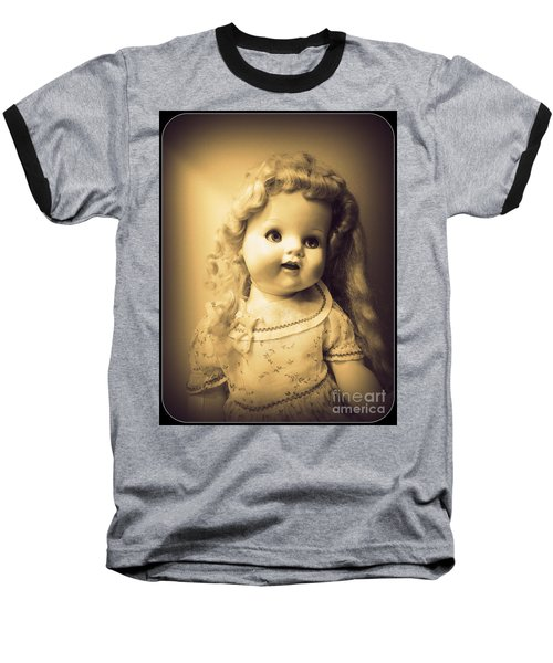 Antique Dolly Baseball T-Shirt by Susan Lafleur